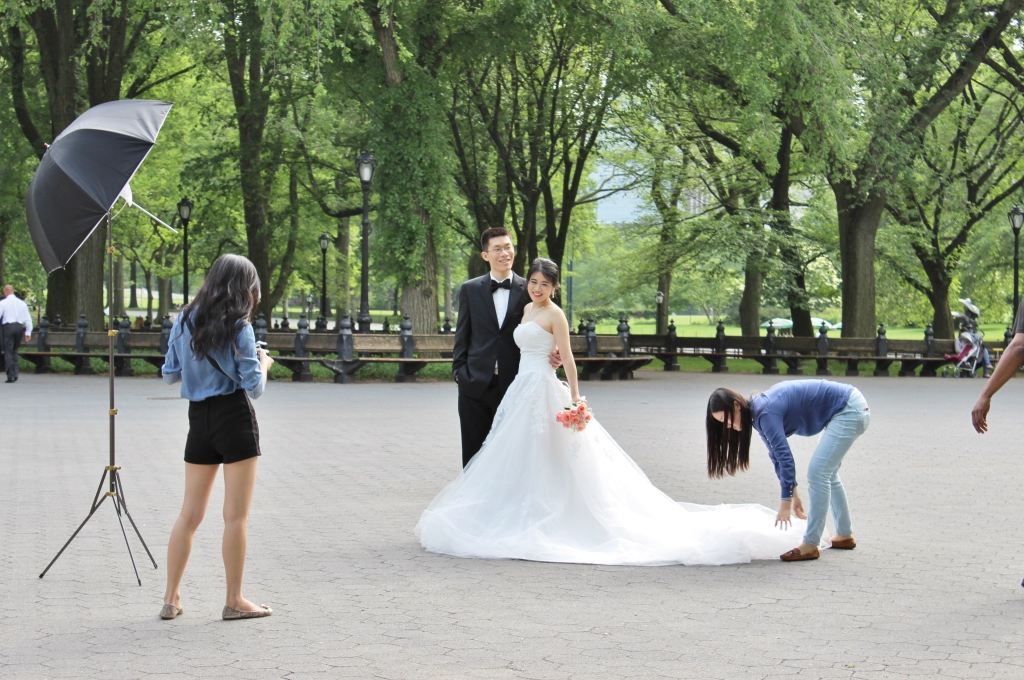 A Newlywed Couple at Central Park